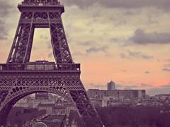 paris sunset (poludziber1) Tags: city sunset sky urban paris france clouds colorful capital challengeyouwinner cyunanimous