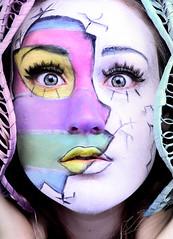 Eggstatic (Claudslr) Tags: pink blue portrait selfportrait colour green me girl yellow self painting easter pastel makeup brunette facepaint cosmetics selfie easteregg snazaroo cinemasecrets