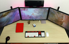 Ultimate Setup (Bob Jouy) Tags: desktop 2 apple mac desk air pro setup asus klipsch 4k groot ipad uhd wasdkeyboards pb287q