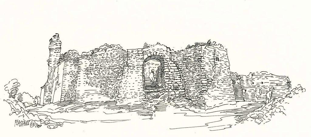 Ruines du Vieux Village - Ramparts