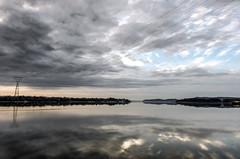 Stony Point Sunrise (Dan NYNJ) Tags: newyork reflection nature skyline river point landscape dawn ducks upstatenewyork hudsonriver stony hudson libertystatepark 911memorial stonypoint rocklandcounty pennisula