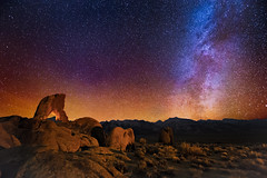Boot Arch (Wayne Pinkston) Tags: nightphotography lightpainting night stars arch galaxy astrophotography nightsky milkyway alabamahills rockarch canon6d landscapeastrophotography bootarch ladysbootarch waynepinkston lightcraftercom wwwlightcraftercom
