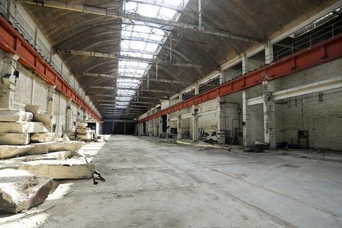 Les larges volumes des halles permettront de nombreux aménagements dédiés à la culture et à la création © W. Vainqueur