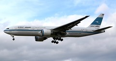 Kuwait Airways Boeing 777-269ER 9K-AOA Profile (Mark 1991) Tags: london heathrow boeing 777 lhr heathrowairport londonheathrow kuwaitairways 777200 777200er 9kaoa