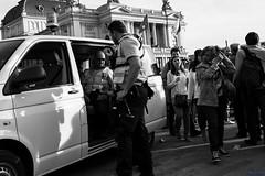 safety (desmokurt1) Tags: street urban bw white schweiz switzerland cops suisse zurich police security zürich polizei policia zurigo sicherheit bellevueplatz sächsilüttn