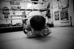 salute (andrew foung) Tags: blackandwhite bw kid gr boxing fightclub muaythai