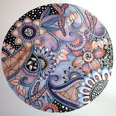 Night garden (sueingram24) Tags: flower art illustration botanical drawing doodle zentangle zendoodle