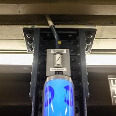 180 degree high-resolution surveillance camera (wwward0) Tags: nyc usa newyork underground unitedstates manhattan surveillance cc securitycamera mta subwaystation wallst 2train 3train wwward0