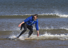 Skim Boarder 008 (KeithProvenArtist) Tags: sea beach sport scotland surf waves play fife standrews westsands skimboarder