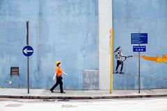mixing metaphors (MdKiStLeR) Tags: street city urban signs motion color art hongkong movement asia cityscape random candid fineart 2016 urbanx mixingmetaphors mdkistler copyrightmichaelkistler