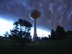 2016-05-28 (Gregg Kiesewetter) Tags: cloud storm weather illinois watertower wideangle stormfront normalil normalillinois rokinon8mmfisheye