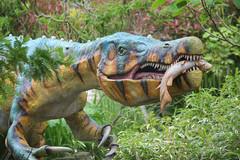 """terrible lizard"" (Tony Shertila) Tags: england weather gardens clouds model europe day cheshire dinosaur cloudy britain outdoor exhibition chester growth jungle jurassic dinosaurs extinct upton chesterzoo dinosauria botinicalgardens tiassic 20160601104826"