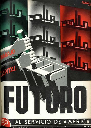 Portada de Josep Renau Berenguer para la Revista Futuro (mayo de 1945)