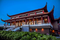 Buddhist Temple (Images by Christie  Happy Clicks for 2016!) Tags: canada temple nikon truth peace bc buddha buddhist religion peaceful richmond bluehour d5200 lingyenmountainbuddhisttemple
