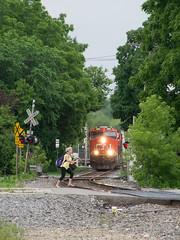 CN2863RaceWaukeshaWI6-13-16 (railohio) Tags: cn trains waukesha wisconsin j3 061316 canadiannational es44ac trespassers operationlifesaver