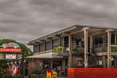 Doc's in Austin (Jims_photos) Tags: clouds austin outside restaurant texas adobephotoshop cloudy outdoor nopeople austintexas daytime austintx lightroom oldfence jimallen adobelightroom fencefriday nikon7100 docson38thandmedicalparkway