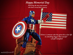 Memorial Day 2016 (metaldriver89) Tags: old 2 usa art america toy toys actionfigure photography book comic action glory flag united steve wave age american actionfigures captain hero figure superhero legends flies shield states rogers patriot marvellegends marvel universe cinematic captainamerica baf articulated avengers hasbro 3pack ultron murica acba articulatedcomicbookart