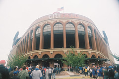 000021 () Tags: newyork film baseball olympus 24mm mets f28 mlb portra400 om1md  hzuiko  citifield autow