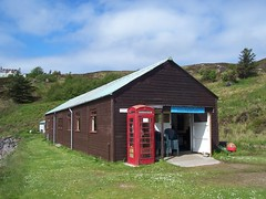 Summer Isles Post Office, Tanera Mor, The Summer Isles, May 2016 (allanmaciver) Tags: red summer classic coffee office break post tea box stamps unique room style welcome collectors issue meet isles mor tanera relephone allanmaciver