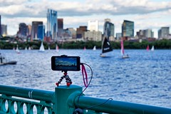 Behind the Scenes ((Jessica)) Tags: boston skyline river timelapse newengland charles behind behindthescenes iphone joby 6s gorillapod mitsailingpavilion lapseit iphone6s