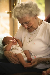 Counting toes... (Marla Nutbrown) Tags: family baby love toes grandmother great grandson years generations 93 touching