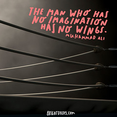 The man who has no imagination has no wings.  Muhammad Al (brightdrops) Tags: quotes inspirational muhammadali inspirationalquotes
