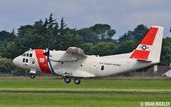 u.s.coast guard hc-27j spartan 2714 about to land at shannon from farnborough 18/7/16. (FQ350BB (brian buckley)) Tags: spartan uscoastguard 2714 einn hc27j