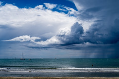 Summer Hesitating Weather (NathalieSt) Tags: europe france hrault lagrandemotte languedocroussillon mer sea cloud clouds