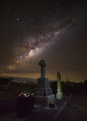 Amelia May Lynch RIP || Narooma (David Marriott - Sydney) Tags: cemetery night way nightscape angle au wide australia nsw newsouthwales milky 14mm narooma samyang