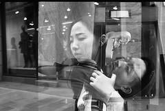 Street portraits (__ _) Tags: streetphotography streetportraiture doubleexposure multipleexposure blackandwhite film 35mm konicat badwinding overlappingframes faces humanity socialdocumentary