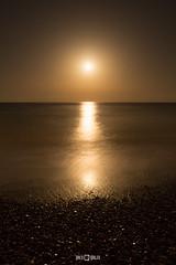 Luna de Miel (PacoQT) Tags: longexposure costa moon beach night noche mar agua stones playa luna honey reflejo miel mediterrneo piedras castelln almenara mediterrnean pacoqt pacoquiles