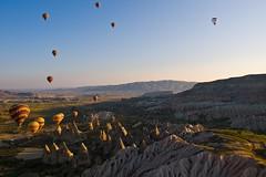 Early Morning Flight (iamfisheye) Tags: turkey 2010 1454mm balloonride camera cappadocia e3 goreme kit lens olympus zd zuiko turkey2010