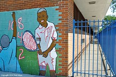 Happy Fence Friday (Trish Mayo) Tags: school fence mural wallart tennis hamiltonheights publicschool paintedwalls thebestofday gnneniyisi