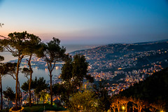 Tabarja At Night, Lebanon (Paul Saad (( ON/OFF ))) Tags: sunset sky lebanon color colour night sunrise lights harissa jounieh tabarja