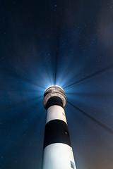 El gua en la noche (noctuafoto) Tags: longexposure sea lighthouse lightpainting night stars landscape faro noche mar paisaje tokina estrellas nocturna angular largaexposicin