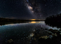 Like A Dream (Nishanth Vepachedu) Tags: blue summer lake reflection water night way stars cool nightscape galaxy milky starry milkyway