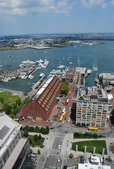 Long Wharf from the Custom House Tower observation deck (David Coviello) Tags: boston architecture buildings massachusetts customhouse