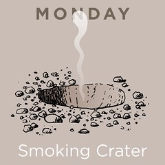 Monday (Don Moyer) Tags: moleskine ink notebook drawing smoke crater monday moyer brushpen donmoyer