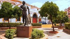 Spain Sevilla - Plaza de Toros (janvandijk01) Tags: spain sevilla plaza de toros spanje seville arena standbeeld torero