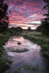sunrise (alastairgraham19) Tags: landscape england yorkshire sony sky sunrise nature uk sunset stream river water clouds longexposure