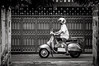 Odd Transport #0231-2 (svenpetersen1965) Tags: bangkokstreet alley fence motorbike motorcycle street transport ขนส่ง รถมอเตอร์ไซค์ bangkok krungthepmahanakhon thailand th