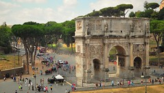 Arc of Constantine (Matthew David C) Tags: rome streets city sun colour classic architecture 35mm nikon d5000 landscape