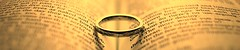 Bible Rings (Simon Taylor Local Photographic) Tags: rings ring bible black white dof metal wedding marriage text script