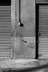 silent garage (autobahn66.com) Tags: red urban architecture contrast grey gate industrial lock faucet plug grimey