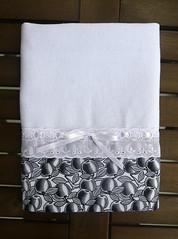 Pano de prato com maças branco e preto (Ateliê da Russa) Tags: panodeprato panodecopa