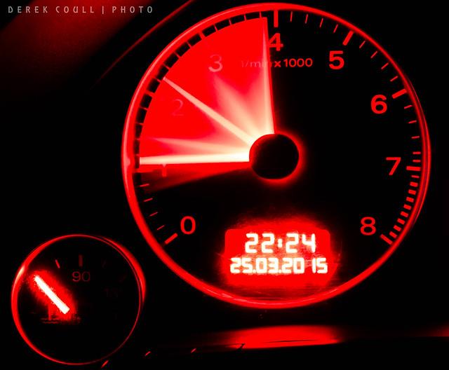 longexposure kitlens dashboard b7 audiquattro sline bulbmode revcounter 20t timeanddate powerband carclocks rpmguage samsungnx1100 samsung2050mmkitlens derekcoull lightroom57 revrange revolutioncountertach speedclocks