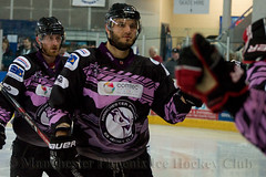 Fist Bumps for the Third Goal (Official Manchester Phoenix Photography) Tags: game ice hockey phoenix sport manchester contest icehockey rink match playoffs puck coventry semifinal epl manchesterphoenix mkl englishpremierleague miltonkeyneslightning