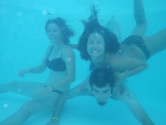 Daw! (Sarah Skiold-Hanlin) Tags: family friends silly love smile goofy cheese swimming swim fun underwater goofballs say