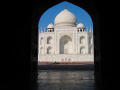 A glimpse of the Taj Mahal