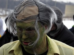 Who knew that life would be so hard on Chevy Chase? (kennethkonica) Tags: costumes people usa men sports hockey face america canon outdoors women midwest skin action indianapolis makeup indy indiana wig hoosiers canonpowershot polarplunge eaglecreekpark sx50hs indyfuel